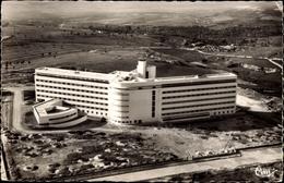 Cp Meknès Marokko, Le Nouvel Hopital Civil, Krankenhaus, Fliegeraufnahme - Marruecos