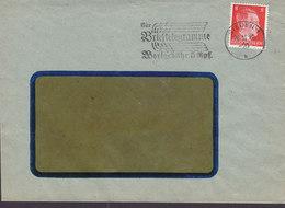 Germany Deutsches Reich Slogan Flamme 'Brieftelegramme Wortgebühr 5 Rfp.' SIEGEN 1942 Cover Brief 8 Pf. Hitler Stamp - Deutschland
