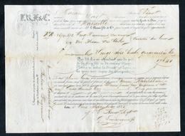 Connaissement - Lettre De Voiture Ou De Roulage 1856 - Port De Cette (Sète - Hérault) -> Marseille - Bill Of Lading - France