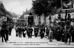 12960 - Cote D'Or -  ARNAY Le DUC  : GRANDE FETE Des 14.15.et 16 Sept.1912   Thême  Rare -  Circulée En 1912 - Arnay Le Duc
