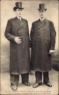 Cp Le Géants Hugo, Frères Nés à Saint Martin Vésubie, 2.30m Hauteur - Cartes Postales