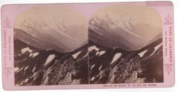 Stereoscopische Kaart  Chamonix. Le Mont Blanc Et Le Col De Balme - Cartes Stéréoscopiques