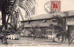 Afrique Occidentale,Dahomey,Cpa Cotonou,Maison Armandon - Dahome