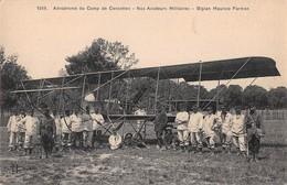 """07820 """"AERODR. DU CAMP DE CERCOTTES - NOS AVIATEURS MILIT. - BIPLAN MAURICE FAIRMAN"""" AEREO MILITARI CART. ORIG. NON SPED - ....-1914: Precursori"""