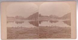 Stereoscopische Kaart  SUISSE. ENGADINE. 1887. Starer See Mit Julier - Cartes Stéréoscopiques