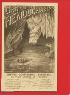 CPA DESAIX BELGIQUE Grotte REMOUCHAMPS RIVIERE SOUTERRAINE Barque Draperies Stalactites Stalagmites - Belgique