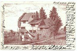 ZÜRICH Litho Lavaterhaus Auf Dem Stock Federskizzen Von R. Ringger Küsnacht No. 1 - ZH Zurich