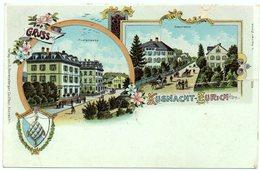 LITHO Gruss Aus KÜSNACHT Poststrasse Seestrasse Gel. 1901 V. Erlenbach N. Esslingen - ZH Zurich