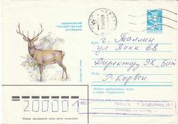 UdSSR 1983  Ganzsachenumschlag / Entire Cover   Gebr. /  Used  ;   Bucharahirsch - Wild