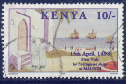 Kenya 1998 Ship Visiting MALINDI 10SH Fine Used - Kenya (1963-...)