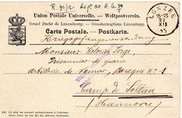 CV Expédiée De LONZEE (27-XII-1915) Vers Un Prisonnier Du Camp De SOLTAU - Guerra '14-'18