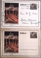 DR 2 Ganzsachen 6 + 6 Pfg. Deutschland Deutschland über Alles Gebraucht/ungebraucht - Deutschland