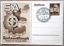 DR Ganzsache 6 Pfg. SA Reichswettkämpfe 1938 Mit SST - Deutschland