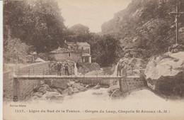 C.P.A. - LIGNE DU SUD DE LA FRANCE - GORGES DU LOUP - CHAPELLE ST ARNOUX - 1127 - GILETTA - ANIMÉE - ERMITAGE DE ST ARN - Frankreich