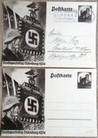 DR 2 Ganzsachen 6 Pfg. Reichsparteitag Nürnberg Gelaufen/ungebraucht - Deutschland