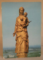 Santuario Statua Dorata Scultura Narciso Cassino Tortona (Alessandria) Cartolina 1988 - Tableaux, Vitraux Et Statues