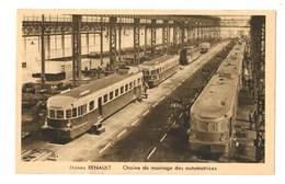 Usines Renault - Chaine De Montages Des Automotrices Rapides - 56 - Treni