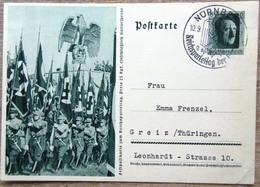 DR Ganzsache 6 Pfg. Hitler Festpostkarte Reichsparteitag SST Nürnberg - Deutschland