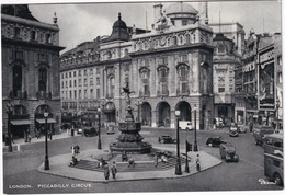 London: OLDTIMER CARS, VANS, TAXI, DOUBLE DECK BUS - Piccadilly Circus, Statue Of Eros - Toerisme