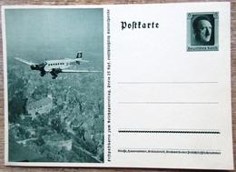 DR Ganzsache 6 Pfg. Hitler Festpostkarte Reichsparteitag JU 52 Ungebraucht - Deutschland