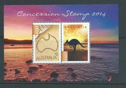 Australia 2014 Undenominated Concession Stamps Miniature Sheet Of 2 MNH - Nuovi