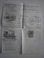 34 Servian. Paul Laussel, Machines à Vapeur. Facture Du 29 Juillet 1882 - Agriculture