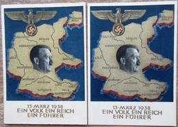 DR 2 Ganzsachen 6 Pfg. 13. März 1938 Ein Volk,ein Reich, Ein Führer Gelaufen/ungebraucht - Deutschland