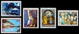 POLYNESIE 1971 - Yv. PA 55 56 57 58 Et 59 ** SUP  Cote= 105,00 EUR - Tableaux D'Artistes Polyn. (5 Val.)  ..Réf.POL23602 - Luftpost