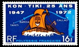 POLYNESIE 1972 - Yv. PA 64 *   Cote= 16,00 EUR - Arrivée Du Kon-Tiki à Tahiti  ..Réf.POL23611 - Airmail