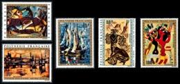 POLYNESIE 1972 - Yv. PA 65 66 67 68 Et 69 **   Cote= 127,00 EUR - Tableaux D'Artistes Polyn. (5 Val.)  ..Réf.POL23613 - Poste Aérienne