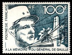 POLYNESIE 1972 - Yv. PA 70 **   Cote= 78,00 EUR - Général De Gaulle  ..Réf.POL23616 - Luftpost