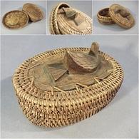 * BOITE PANIER TRESSE OISEAU SCULPTE - Sculpture - Boîtes/Coffrets