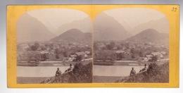 Stereoscopische Kaart :SUISSE.  Panarama  INTERLAKEN Et De La Jongfrau - Cartes Stéréoscopiques
