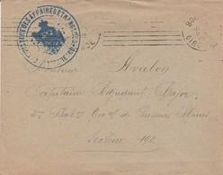 CACHET : MINISTERE DES AFFAIRES ETRANGERES DE MONTENEGROS -1916 - BORDEAUX - Marcofilia (sobres)