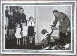 DR 1 Ganzsache 6 + 19 Pfg. Hitler Vorderseitig Bild Adolf Hitler Mit Kindern - Deutschland
