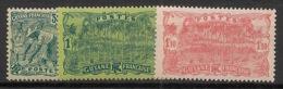 Guyane - 1928 - N°Yv. 106 à 108 - Série Complète - Neuf Luxe ** / MNH / Postfrisch - Guyane Française (1886-1949)