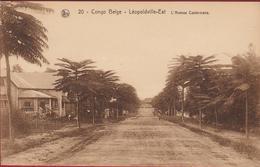 Belgisch Congo Belge Leopoldville Est L' Avenue Castermans Animee Afrique Africa - Kinshasa - Léopoldville