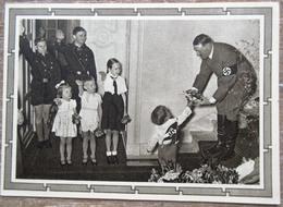 DR 1 Ganzsache 6 + 19 Pfg. Hitler Vorderseitig Bild Adolf Hitler Mit Kindern SST Saarbrücken - Deutschland