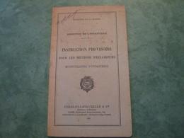 Instruction Provisoire Pour Les Sections D'Eclaireurs Motocyclistes D'Infanterie (34 Pages) - Libri