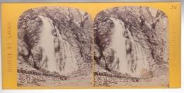 Stereoscopische Kaart : SUISSE - MARTIGNY - CASCADE De PISSEVACHE - Cartes Stéréoscopiques
