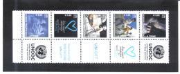 JOO1175 UNO WIEN 2010 GRUSSMARKEN MICHL 634/38 FÜNFERSTREIFEN ** Postfrisch Siehe ABBILBUNG - Wien - Internationales Zentrum