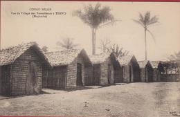 Belgisch Congo Belge Vue Du Village Des Travailleurs A Temvo Chemin De Fer Du Mayombe Mayumbe Etnique Afrique Africa - Congo - Kinshasa (ex Zaire)