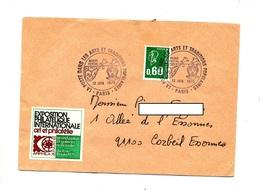Carte Cachet Paris Poste Dans Art Et Tradition - Poststempel (Briefe)