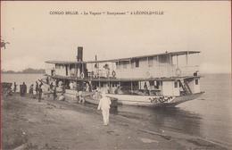 Belgisch Congo Belge Stoomboot Bateau A Vapeur Le Kempenaer Leopoldville River Boot Vessel Afrique Africa Steamer Ship - Congo Belge - Autres