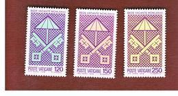VATICANO (VATICAN) - UNIF. 638.640 - 1978 SEDE VACANTE : SERIE COMPLETA DI 3  -  MINT** - Vaticaanstad