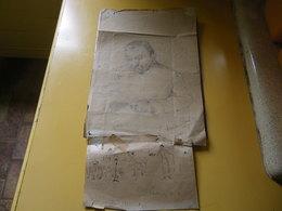 Un Portrait D'Amedee SCHNEIDER Representant Un De Ses Collegues Soldats Guerre 14/18.NIEUPORT -BAINS - 1914-18