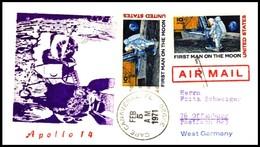 USA: 'Apollo-14 In Space - Mondlandung - Lunar Landing, 1971', Cape Canaveral - Briefe U. Dokumente