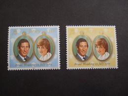 JERSEY  1981. ROYAL WEDDING. YVERT 256/57   MNH **. (S40-NVT) - Jersey
