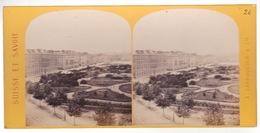 Stereoscopische Kaart : SUISSE.  GENEVE. Le Grand Quai Et Le Jardin Anglais - Cartes Stéréoscopiques