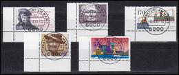 Lot Mit 5 Ecken Unten Links: 1510, 1555, 1557, 1558, 1561, Alle VS-O Frankfurt - BRD